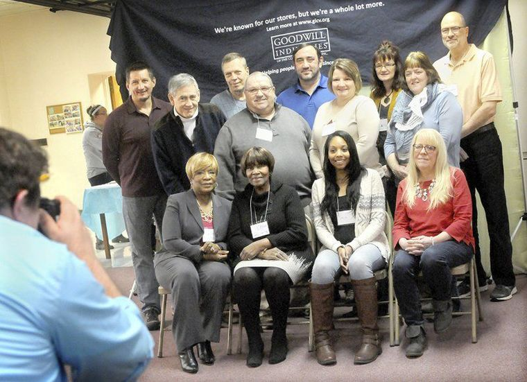 Photo by Thomas Slusser/Tribune-Democrat: Among the 22 GoodGuides volunteer mentors honored Saturday, Jan. 16, 2016, during a ceremony at First Presbyterian Church in Johnstown were (from left, front row) Sandra Cashaw, Verna Carter, Saria Haselrig and Jill Marsh; (middle row) Jim Richey, Tony Penna Sr. Jodi Huston and Wendy Rex; (back row) Matthew Bost, Gary Bochniarz, James Lewis, Jackie Allison and Paul Nikonow.
